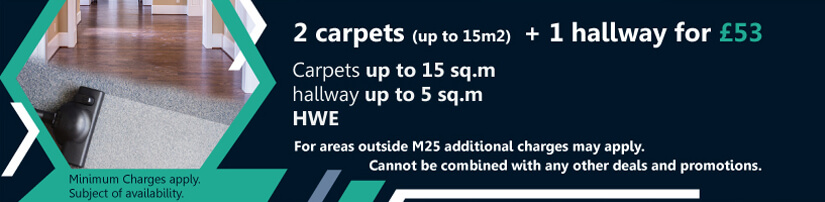 2 Carpets + 1 Hallway for £53