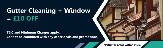 Gutter Cleaning + Window = £10OFF